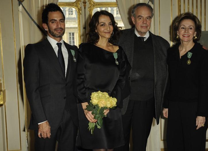 Marc Jacobs, Nathalie Rykiel, Frédéric Mitterrand and Elisabeth Ponsolle des Portes.