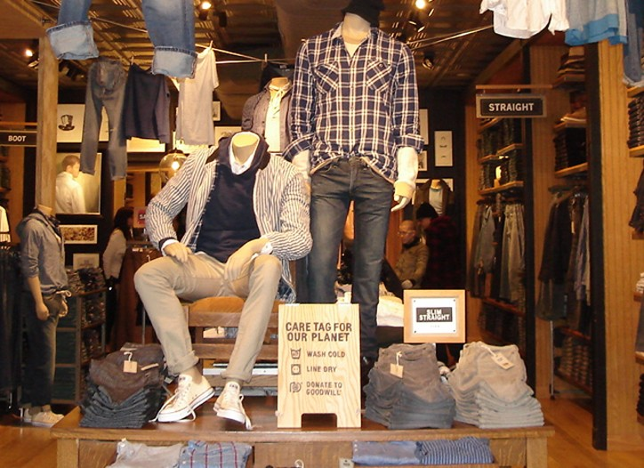 Levi's is pushing sustainability in its stores.