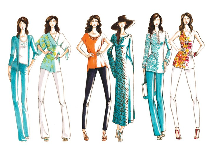 Sketches from Completely Me by Liz Lange, launching on HSN next month