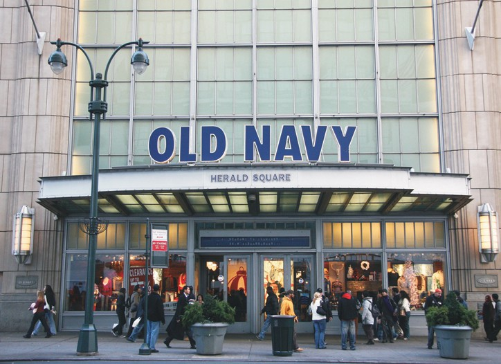 Old Navy and Saks each posted increases in comparable-store sales in December.