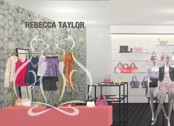 A rendering of a new Rebecca Taylor shop-in-shop in Japan.