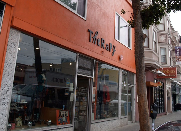 Shops along Valencia Street.