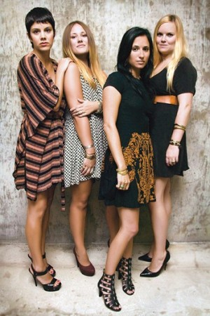 Wearing  their own creations, from left: Danielle Rohani, Shamani Hall, Lindsay Sternberg and Andrea Cheatham.