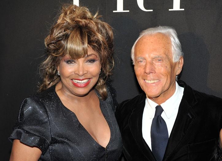 Tina Turner and Giorgio Armani