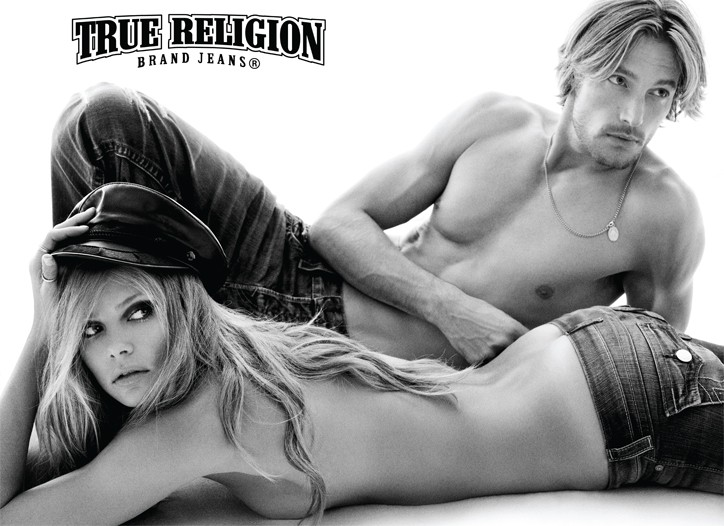 Tori Praver and Gabriel Aubry are featured in the spring ad campaign.
