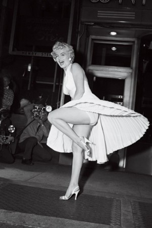 Marilyn Monroe's famous subway breeze inspired Protec-Style Lingerie.