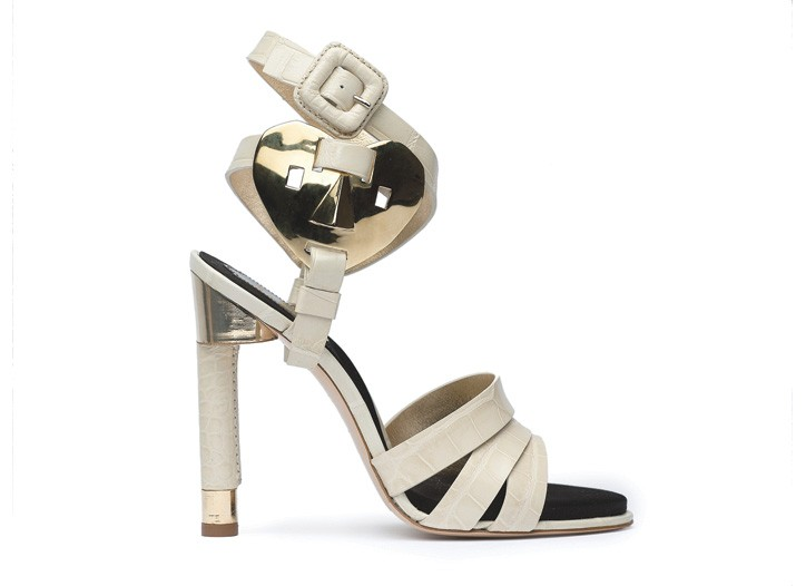 Roger Vivier's Friquee Fricaine sandal with tubular heel.