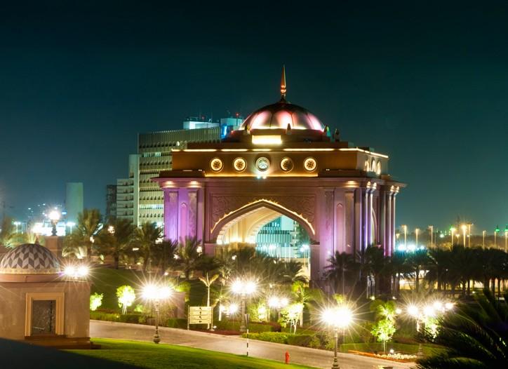 Emirates Palace in Abu Dhab, United Arab Emirates.