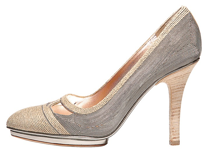 Calvin Klein Collection metal and rope shoe