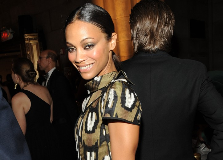 Zoe Saldana in Louis Vuitton.