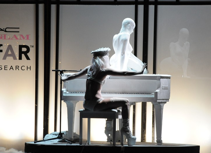 Lady Gaga Performs in Terence Koh