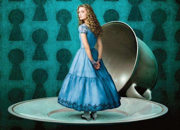 Mia Wasikowska as Alice.