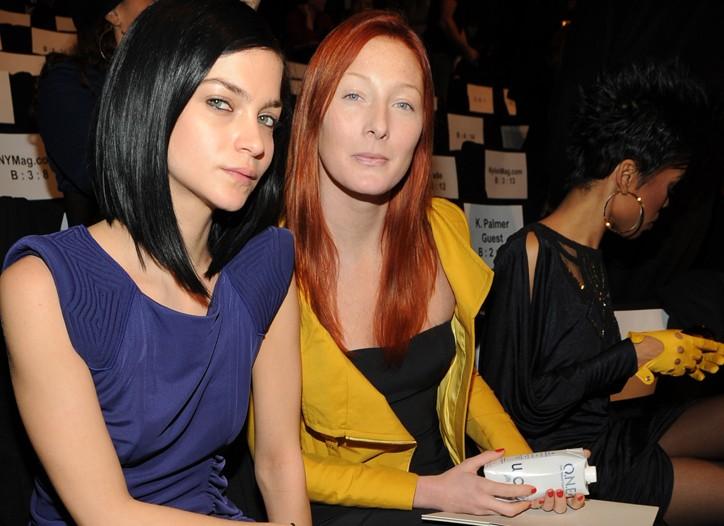 Leigh Lezark and Maggie Rizer both in BCBG MaxAzria.