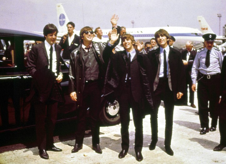 The Beatles arrive at JFK, February 7, 1964.