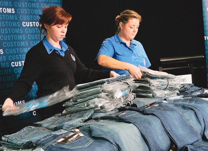 Counterfeits have been a problem for leading premium denim labels like True Religion and Seven For All Mankind.