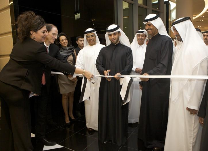 Shireen Al Khatib and Michael Gould at the opening.