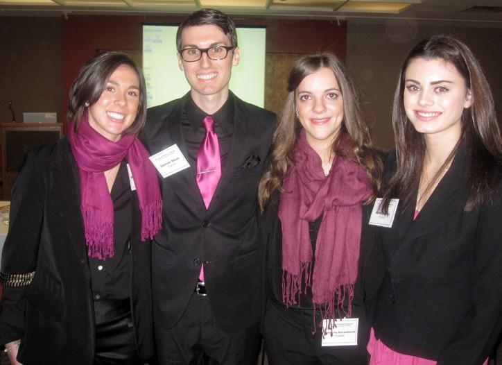 FIT's winning student team: Melanie Guardino, Samuel Bauer, Kimberly Karseboom and Ashly Juskus.