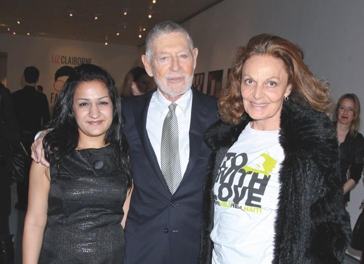 Gohar Rajabzadeh, Art Ortenberg and Diane von Furstenberg.