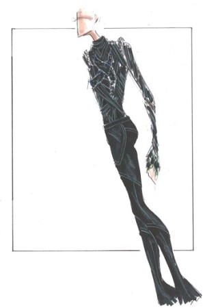 A sketch for Evan Lysacek.