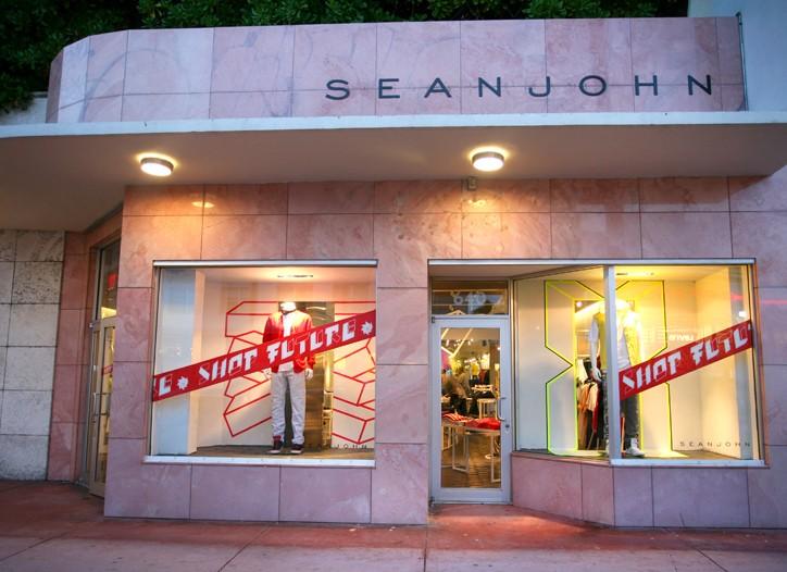 The Sean John pop-up shop.