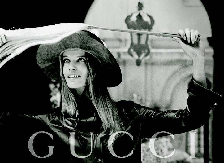An ad for Gucci watches.