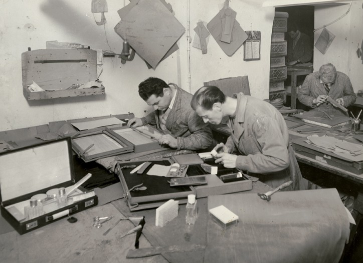 Gucci's Florence workshop in the Forties.