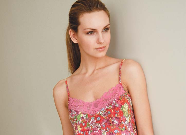 Contemporary slip gown by Josie at The Natori Co.
