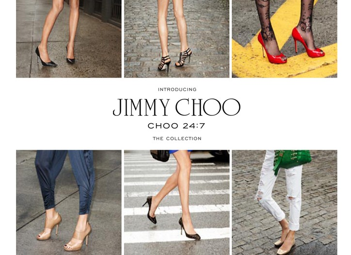 An ad for Jimmy Choo's 24:7 collection.
