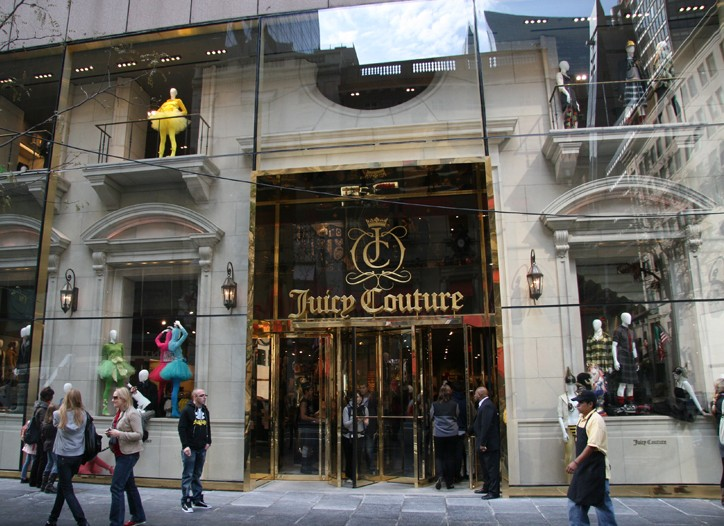 The Juicy Couture world flagship on Fifth Avenue and 52nd Street.