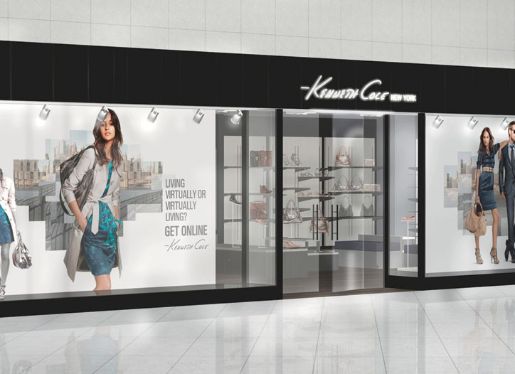 A rendering of the Kenneth Cole New York boutique in the Akmerkez mall in Istanbul.