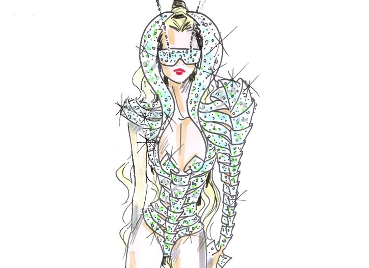 Armani-designed stage look for Lady Gaga.
