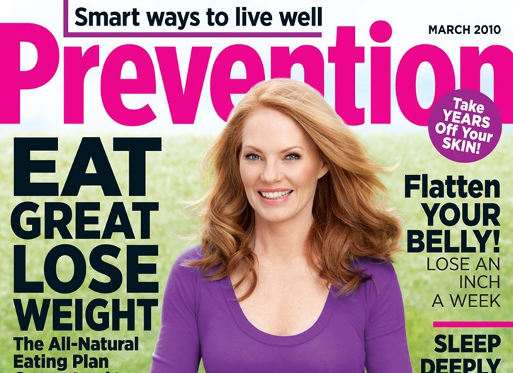 Cover of Prevention magazine.