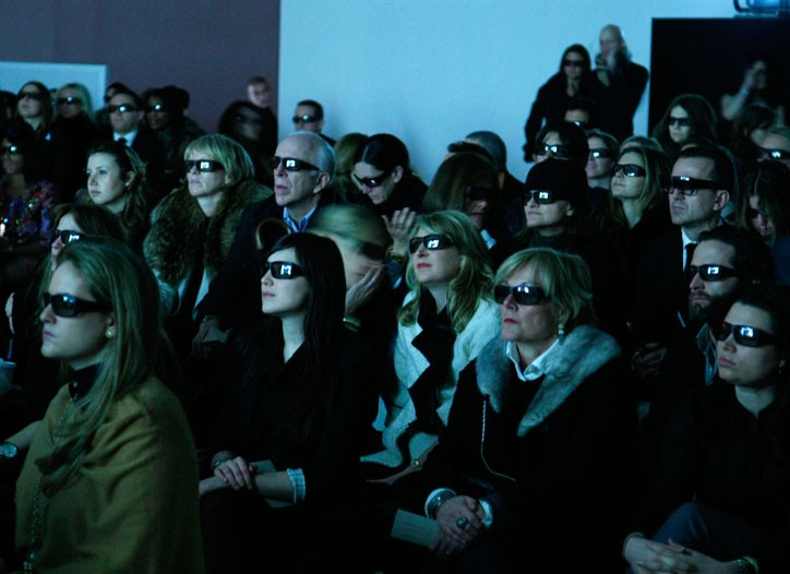 Burberry's New York audience.