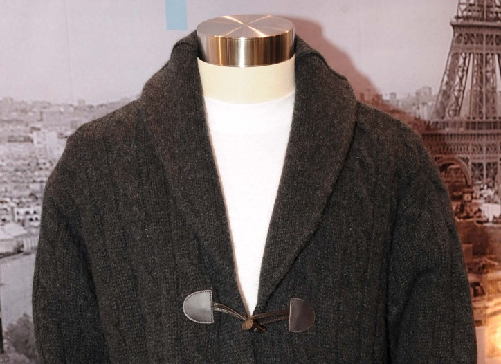 A cashmere cardigan from Loft 604.