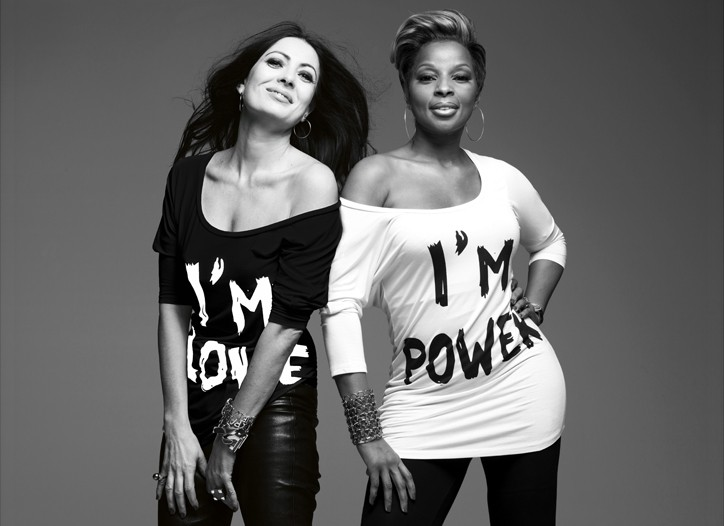 Catherine Malandrino and Mary J. Blige show off their latest creations.