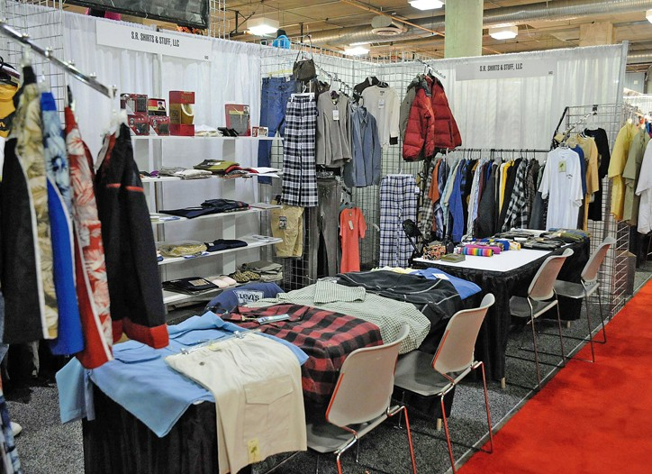 The SR Shirts & Stuff booth.
