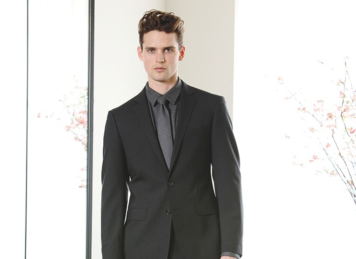 A look from Elie Tahari's new suit collection.