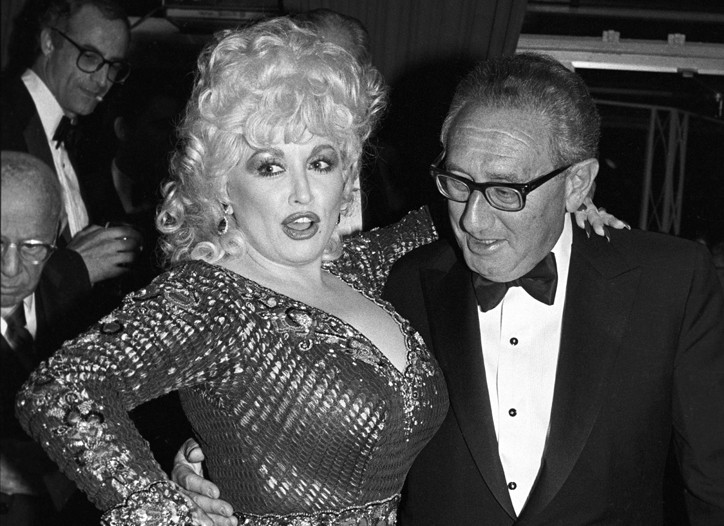 Dolly Parton and Henry Kissinger