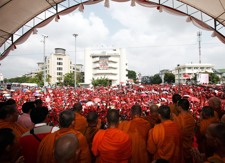 Political protests in Bangkok, Thailand are growing.