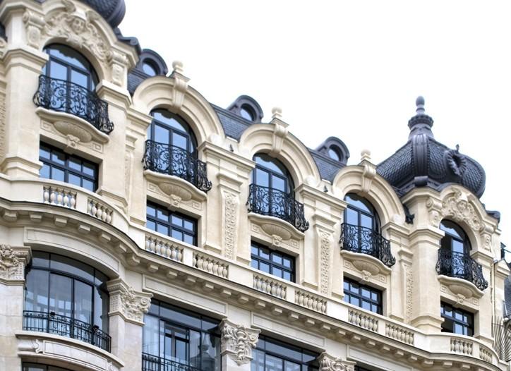 The facade of the new l'Ecole de la Chambre Syndicale de la Haute Couture.