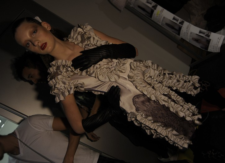Backstage at DressCamp RTW Fall 2010