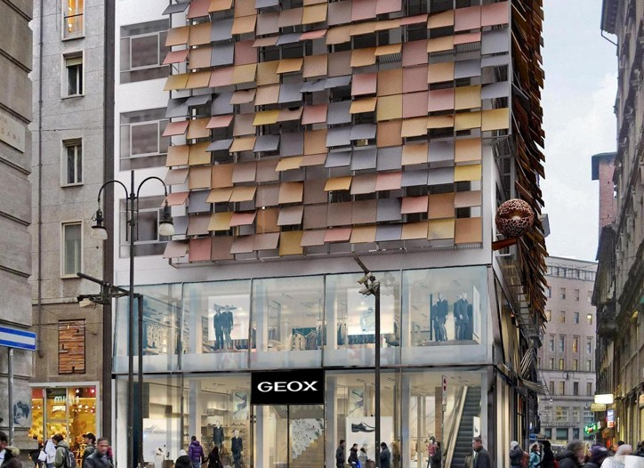 The Geox store in Milan.