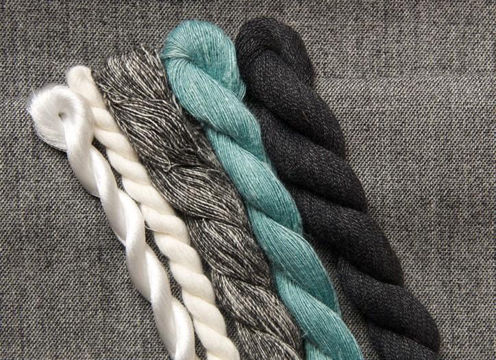Dark shades were prevalent at the Filo yarn fair.
