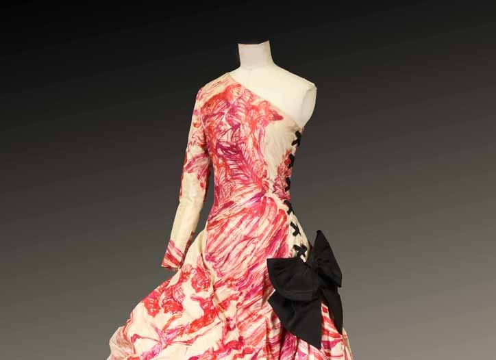 A Jean Patou dress designed by Christian Lacroix for the house's spring 1987 collection.
