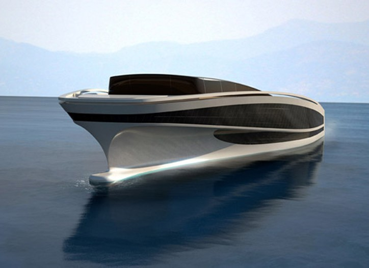 A rendering of the planned yacht.