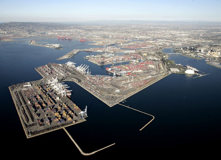 The Port of Long Beach saw container volume rebound 7 percent in January.