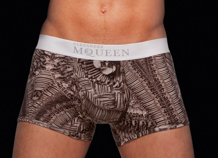 Alexander McQueen underwear.