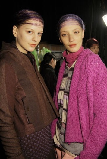 Backstage at Matohu RTW Fall 2010