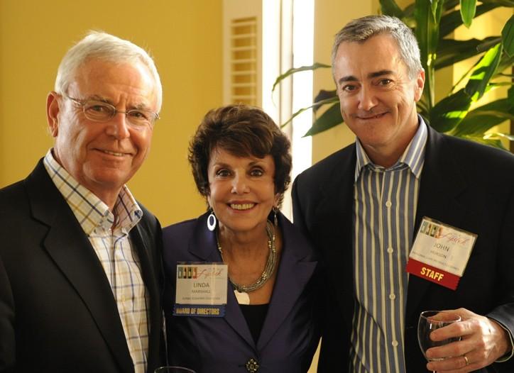 Dan Brestle, Linda Marshall and John Hurson