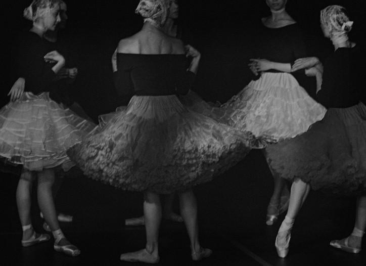 Peter Lindbergh's view of Berlin ballerinas for German Vogue.